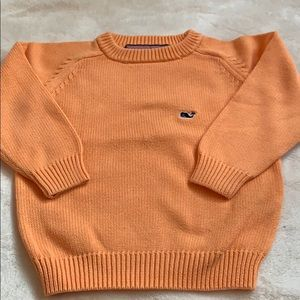 Vineyard Vines orange cotton sweater. EUC size 2